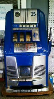 Antique Mills Blue Bell 25 Cent Slot Machine