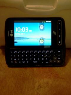 NET10 LG OPTIMUS Q ANDROID PHONE W/ FULL QWERTY KEYBOARD GREAT PREPAID