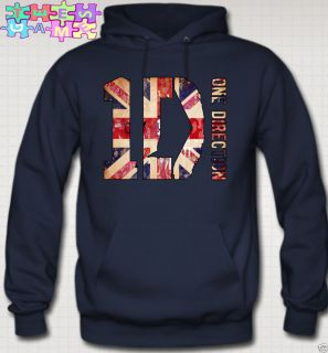 Hoodie British Flag Niall Zayn Liam Louis One Direction 1D Tees