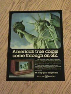 Statue of Liberty Advertisement General Electric TV Ad