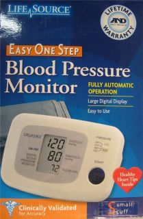 LifeSource UA 767 One Step Auto Inflate Blood Pressure Monitor, Small