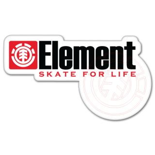 Element Skate for Life Car Bumper Sticker 6 x 3