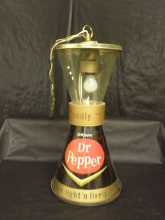 RARE Vintage Dr Pepper Light Sign Swag Lamp