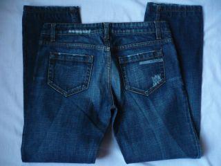 Prada Straight Fit Denim Jeans Size 29x27 Distressed Low Rise