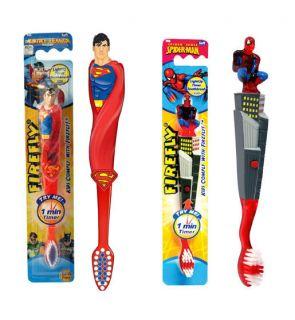 Marvel Heroes Spiderman Superman Kids Light Up Timer Toothbrush