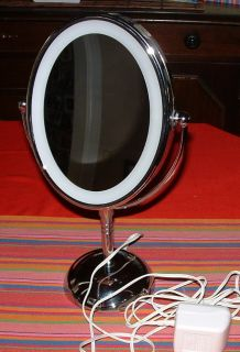 Lighted Vanity MIRROR • Double Sided Regular & Magnifying 7x Make Up