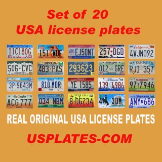 20 USA License Plates Set United States Number Tag Lot Real Best