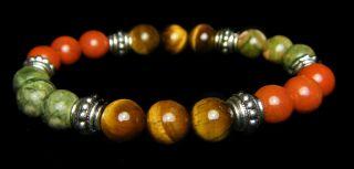 INNER STRENGTH 8mm Crystal Intention Bracelet w/Description   Healing