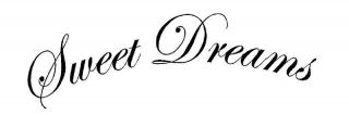 Sweet Dreams Vinyl Wall Decal Sticky Decor Letters