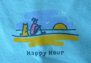 Life Is Good Womens Crusher Tee Happy Hour Sunset New w Tags