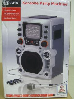 GPX JM250S Karaoke System CD G Home Party Machine