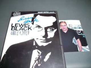 Lewis Black Autographed Signed Unleashed DVD Comedy COA