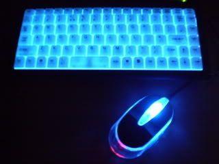 Illuminated USB Mini Keyboard Mouse Laptop PC Computer
