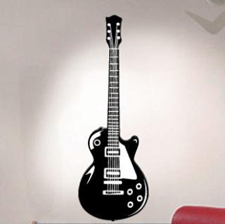 Electric Guitar Vinyl Wall Decal Sticker Music Theme Art