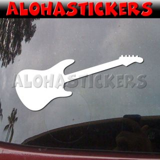 Electric Bass Guitar Rock Music Vinyl Decal Sticker N24