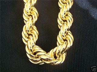 Fat Heavy Gold Rope Chain Huge 36 16mm Run DMC Lil Jon
