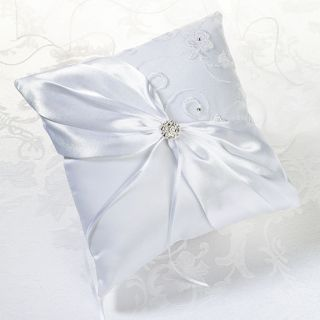 Lillian Rose White Lace Wedding Ring Bearer Pillow