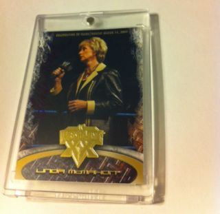 RARE 2004 WWE WWF Linda McMahon Wrestlemania XX Signed Card Auto