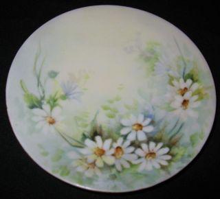 Antique Limoges Daisy Floral Plate Artist Anna B Drake