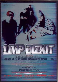 2001 Limp Bizkit Japan Tour Concert Flyer Mini Poster