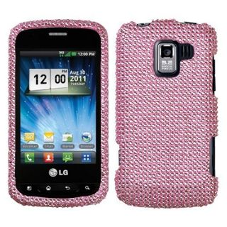 Pink Crystal Diamond Bling Hard Case Phone Cover for LG Enlighten