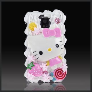Hello Kitty Strawberry Crystal Case Cover for LG Optimus G2X Tmobile