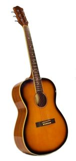 Guitar Sunburst Tobacco Spruce Lindenwood Steel String Folk New