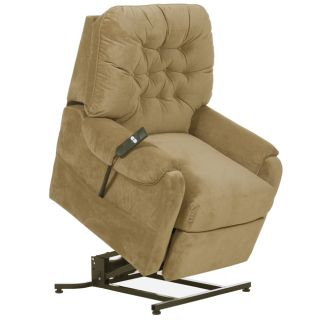 Description The Apex Tan fabric electric power lift chair/recliner