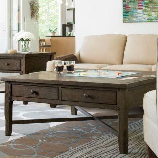 Rustic Dark Brown Lift Top Coffee Table