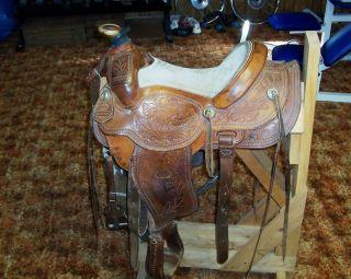 Western Roping Saddle Custom Built Ranch Saddle Modified Chuck Shepard