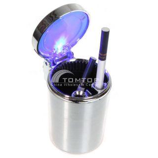 Auto Portable Car LED Light Cigarette Ashtray Holder Use Smokeless