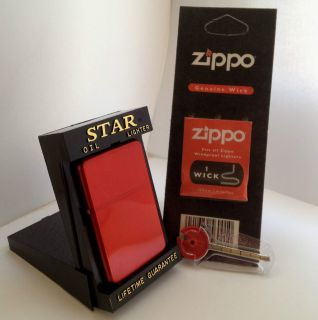 Red Star Lighter Free Zippo Flint Wick Use with Zippo Lighter Fuel