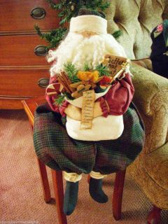 Handcrafted Country Santa Doll with Bag Toys List