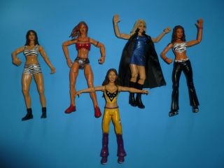 WWE jakks DIVAS LOT Trish Lita and more hot wrestling figures WWF WCW