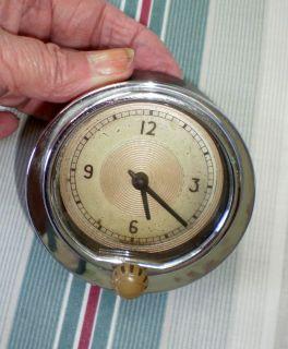 Vintage 1939 Ford Glove Box Door Clock