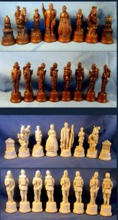 Civil War Chess Set Mascott Chess Abraham Lincoln vs Jefferson Davis