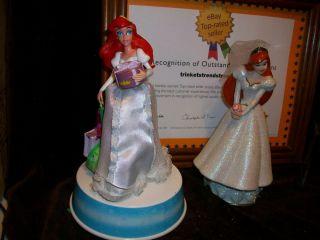 DISNEY ARIEL LITTLE MERMAID WEDDING CAKE TOPPER GEMMY CHRISTMAS MUSIC