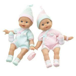 Fisher Price Little Mommy Girl Twins Pink Green Dolls