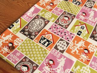 Little Red Riding Hood Patchwork Print Japanese Fabric 110cm x 50cm