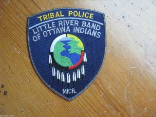 VINTAGE Little River Band of Ottawa Indians Tribal Police Patch