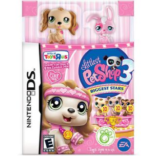 ALL 3 GAMES Littlest Pet Shop 3 Biggest Stars Pink Purple Blue