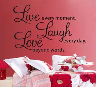 Live Laugh Love Diy Art Vinyl Decal Decor Wall Sticker Removeable Room