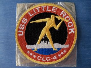 USS Little Rock CLG 4 Patch USN Vietnam Era Guided Missile Cruiser US