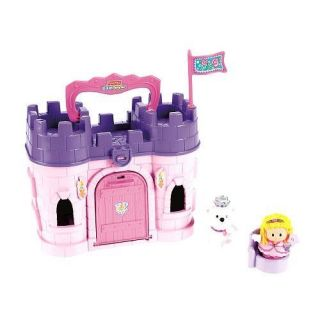Exclusive Fisher Price Little People Play N Go Castle Pink Princess