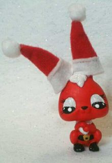 Santa Bunny OOAK Custom Littlest Pet Shop