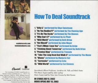 Liz Phair John Mayer How to Deal OST RARE 13 Track CD Advance
