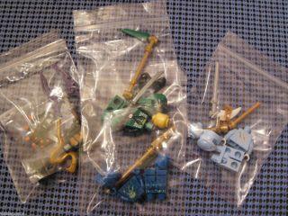Lego Ninjago Minifigures New Green Lloyd ZX NRG Jay NRG Zane Bytar
