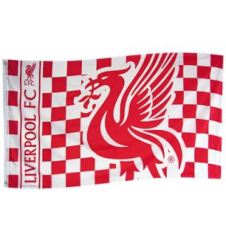 LARGE LIVERPOOL FC OFFICIAL CLUB TEAM FLAG FOOTBALL SOCCER NEVER WALK