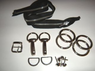 Metal Handbag Hardware Kit Rings Lobsters Buckles Feet Zippers