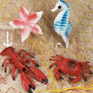 11 1 2 Hard Plastic Red Lobster Luau Beach Party Decorations NIP